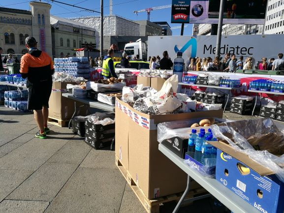 food supply at finish line